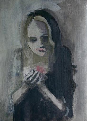 Polvere, cm 18×13, acrilico su lino, 2013, SOLD