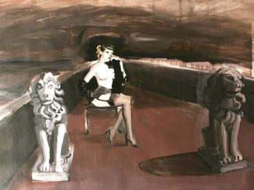 Untitled, acrilico su lino, cm 85×112,2014