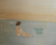 Borotalco, acrilico su lino, cm 55×65,2012
