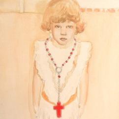 Perché mi cresce così la paura, acrilico su tela, cm 35X25, 2012