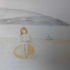 Prossima scadenza, acrilico su lino, cm 65×65, 2012