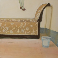 stanza n°2 ( L'ultima goccia di miele), acrilico su tela , cm 100x100, 2013