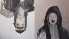 """On/Off""(serie), 2015, acrilico su tela, 100x60 cm"