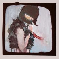 """Goodbye Lucie"", 2015, acrilico su tela, 20x20 cm"