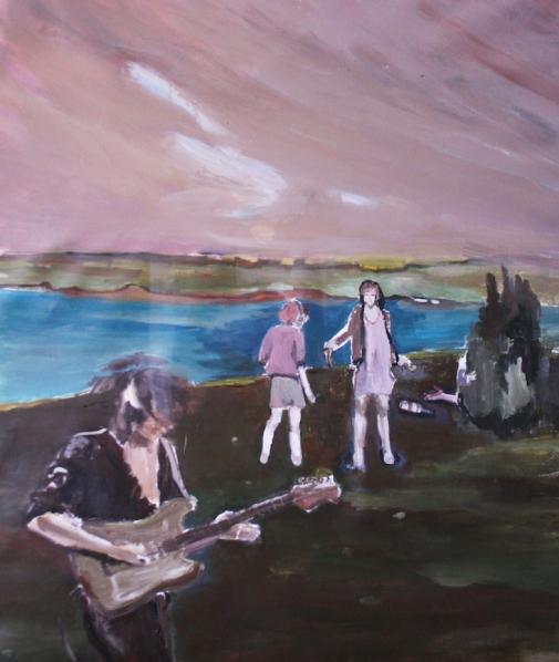 """""""Brezza"""", 2015, acrilico su lino, cm 100×85"""