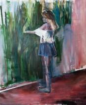 """On/Off""(detail), 2016, acrilico su tela, 180x150 cm"