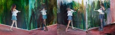 """On/Off""(serie), 2016, acrilico su tela, 180x600 cm"