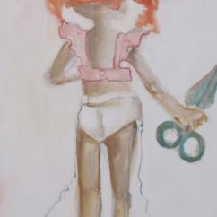 Ho ucciso paranoia, acrilico su tela, cm 80×40, 2011, SOLD