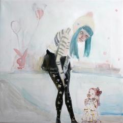 Io cerco ancora, acrilico su tela, cm 40×40, 2011